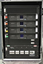 Arc Sound Hire 16U Lab Gruppen PLM Amplifier Rack Type 2